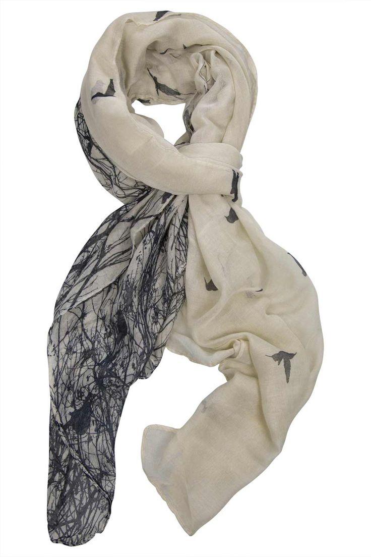 JJ Sisters Printed Bird Scarf - Womens Scarves at Birdsnest Women's Fashion
