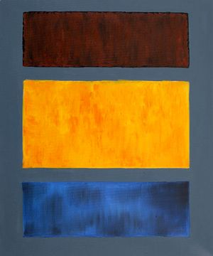 Brown, Orange, Blue on Maroon  Mark Rothko (inspired by)