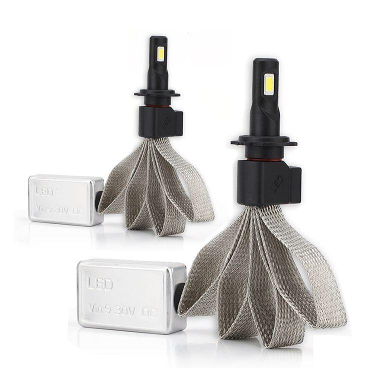 AutoCare H7 Super Terang DIPIMPIN Lampu Mobil H1 H7 H27 H11 HB3/9005 HB4/9006 Universal Cocok Mobil Headlamp 6000 K Mobil DIPIMPIN cahaya