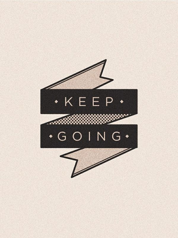 Keep going. Poster. /