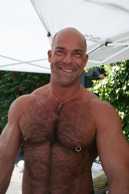 men with shaved chests