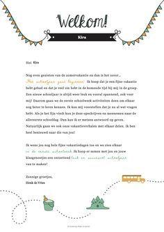 TIP: Schrijf een brief in de zomervakantie naar jouw nieuwe leerlingen!