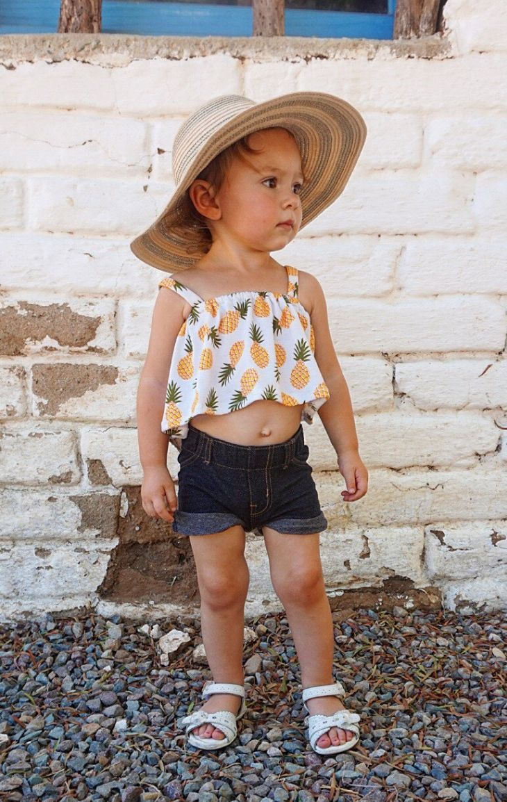 Toddler Pineapple Crop Top | Rugbelly on Etsy
