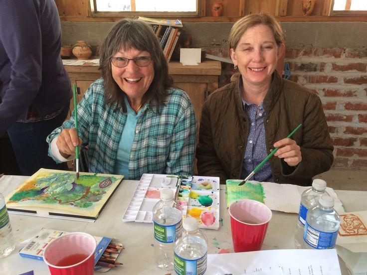 Watercolor and mixed media workshop with Helen Shafer Garcia at Rancho La Bellota May 5-8, 2016.
