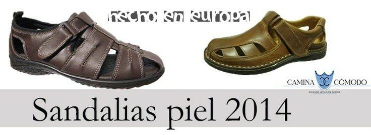 Sandalias de piel para hombre