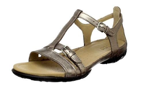 """I swear by my Ecco """"Groove"""" sandals, I have them in two different styles and they look like regular cute sandals but have a really sturdy sole and plenty of cushioning for long days on your feet. (Editor's Note: these are our top pick for comfortable and cute walking shoes!) - Backpacking Diva"""