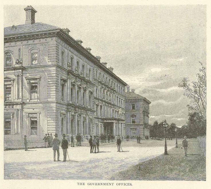 The Government Offices, Melbourne 1886