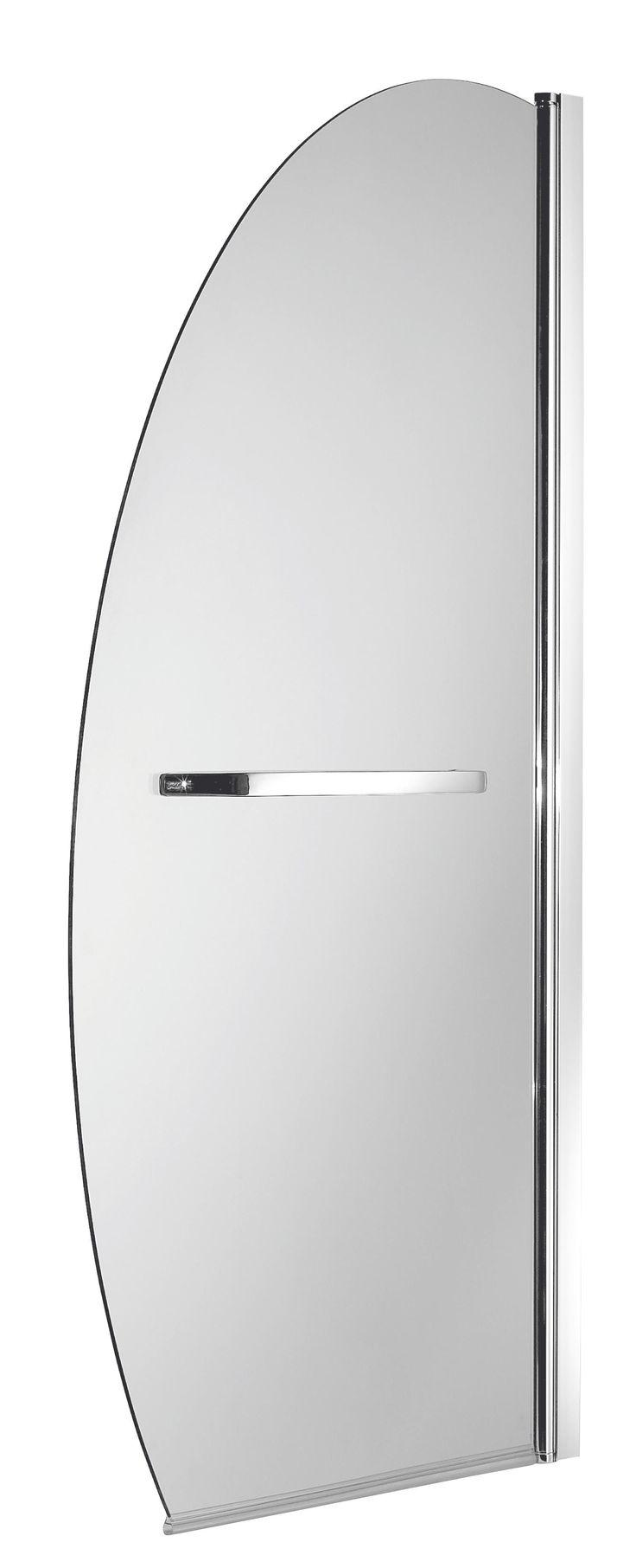 Amazon Straight Single Panel Sail Shaped Bath Screen (W)820mm   Departments   DIY at B&Q