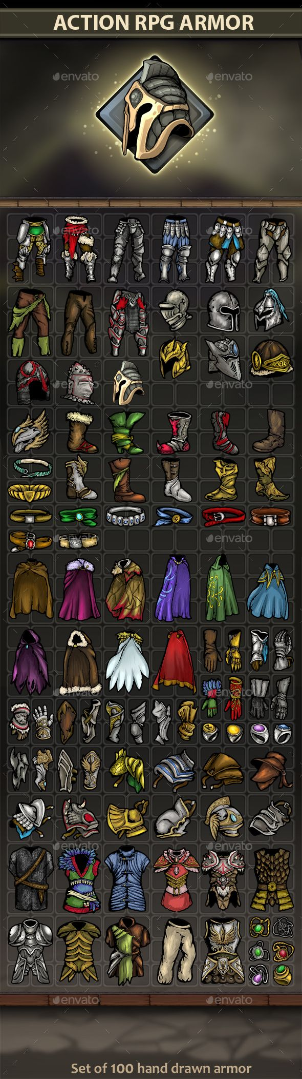 Action Rpg Armor - Miscellaneous Game Assets