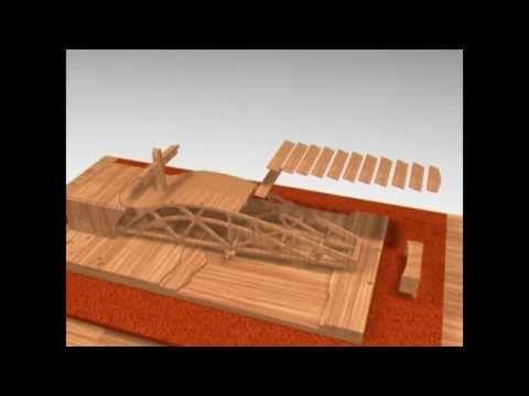 SWING BRIDGE - Leonardo da Vinci - Animazione 3D - YouTube