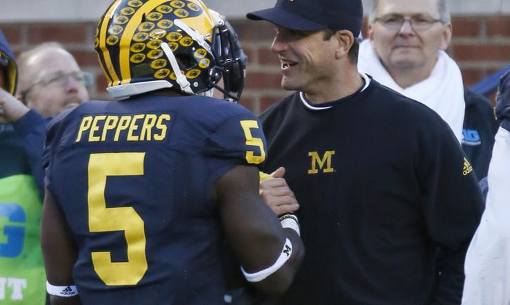 """Jim Harbaugh: Jabrill Peppers is 'going to go very high' in NFL Draft = Former Michigan Wolverine Jabrill Peppers is a tough case study as the linebacker/safety gears up for the NFL Draft. Some buy into the hype; others don't. His former head coach, Jim Harbaugh, appeared on the """"Rich Eisen Show"""" to discuss why teams should. """"The pro coaches I talked to and the scouts who called and talked about Jabrill, they….."""