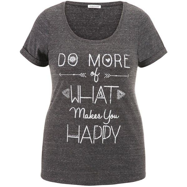maurices Plus Size Heathered Graphic Tee (2365 RSD) ❤ liked on Polyvore featuring tops, t-shirts, plus size, black, black tee, women plus size tops, short sleeve t shirts, short sleeve graphic tees and womens plus size t shirts