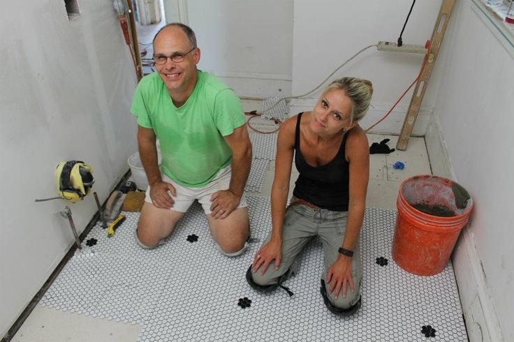 Nicole curtis rehab addict dollar house bathroom laying for Bathroom rehab