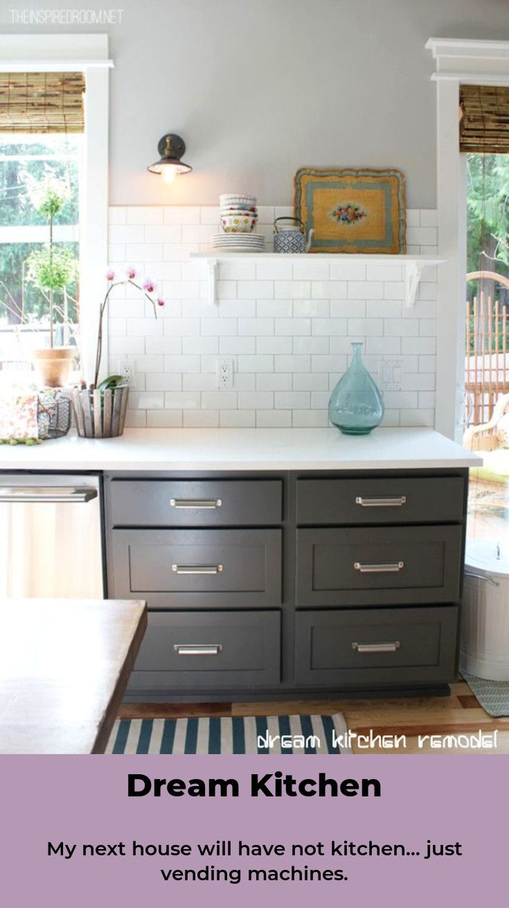 Small Kitchen Ideas On A Budget Kitchen Ideas Remodeling Kitchen Kitchendesign Kitchendecor Grey Kitchen Cabinets Cabinet Paint Colors New Kitchen Cabinets