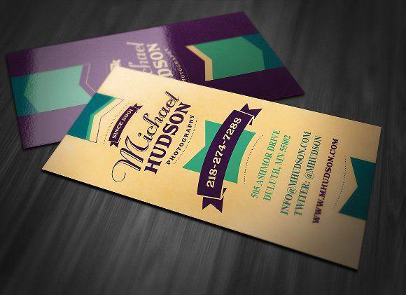 Retro Business Card 3 Retro Business Card Vintage Business Cards Business Card Template Design