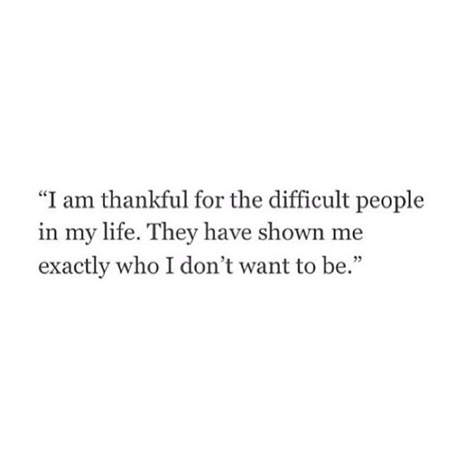 who I don't want to be