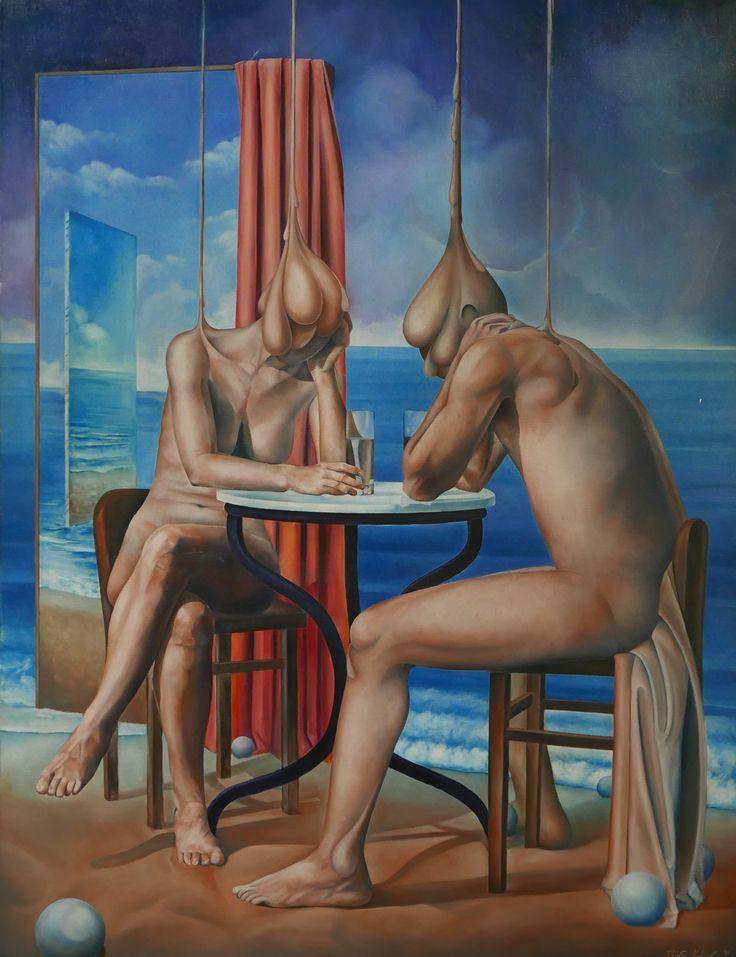 In between Oil on linen #elias_kolivas #oilpainting #art