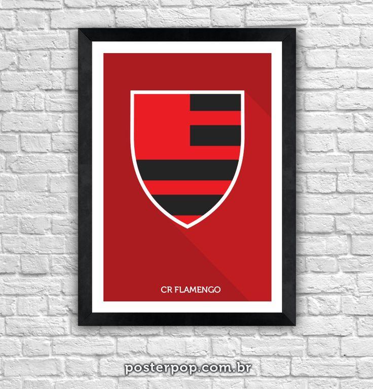 Poster Brasão Flamengo Minimalista