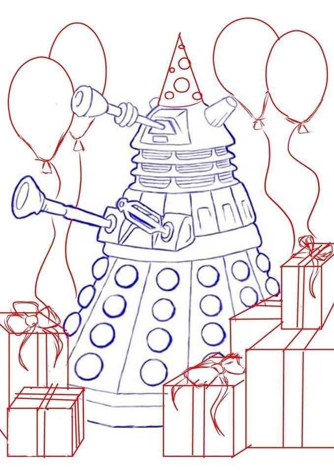 45 Best Doctor Who Coloring Images On Pinterest