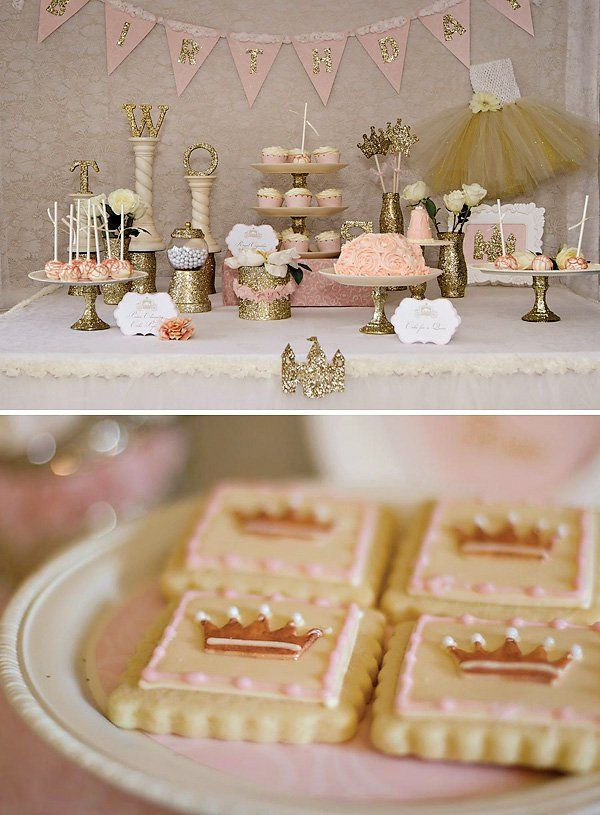 Sparkly Princess Dessert Table my baby shower theme