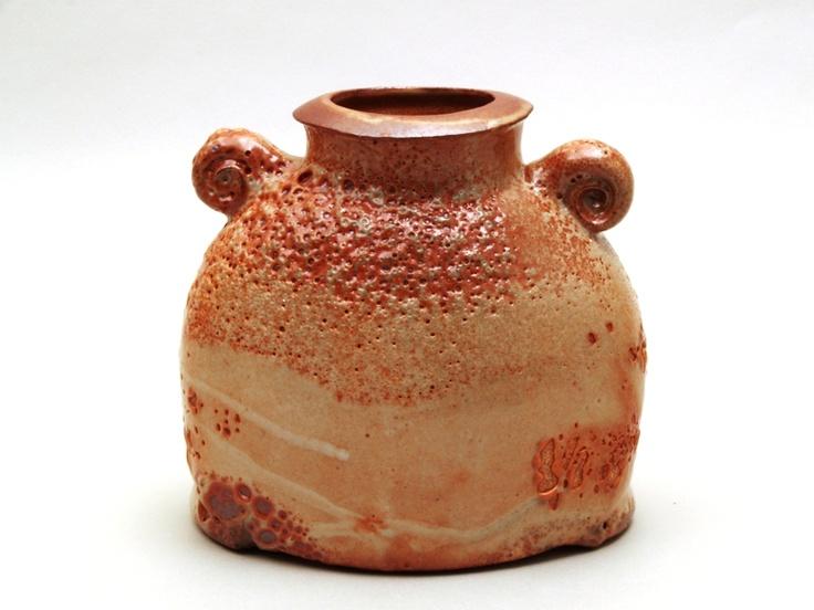 """Fatboy"" series saggar fired stoneware ,shino style glaze"