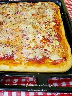 Gabriella kalandjai a konyhában :): Tepsis pizza