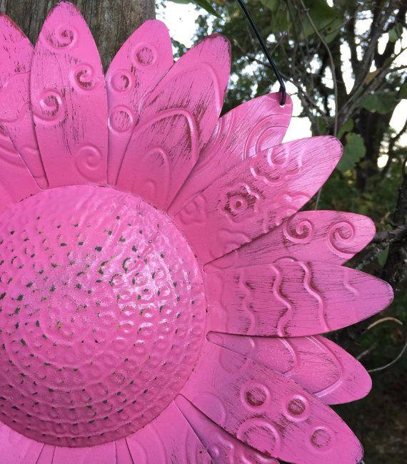 Fall Wire Hanging Metal Flower / 12 Bright By BlueCottageCreation. Metal Yard  ArtMetal ...