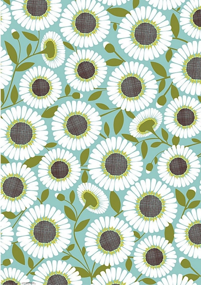Daisy pattern wallpaper - photo#31