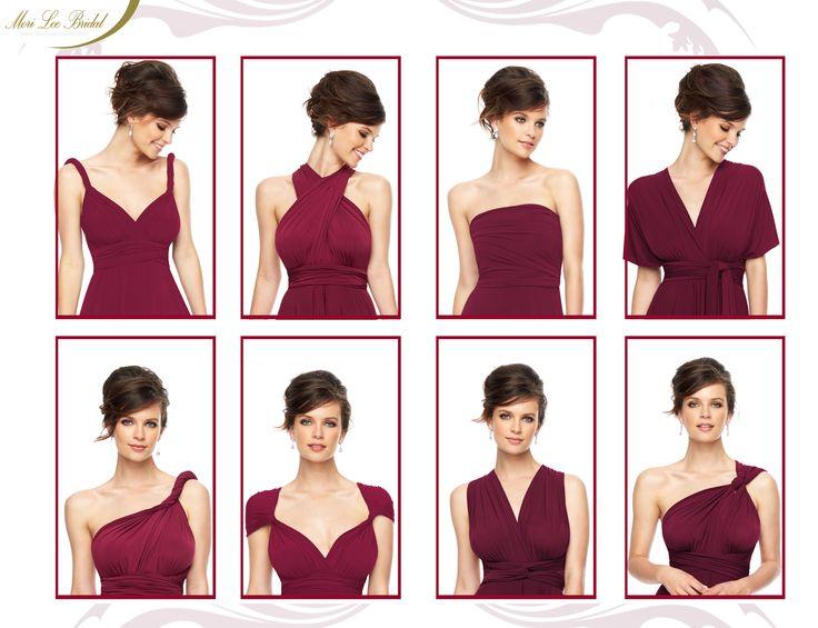 Ocho formas diferentes de lucir un mismo vestido. #innovador #vestido #fiesta #mujer #moda