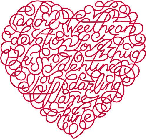happy valentines day word art