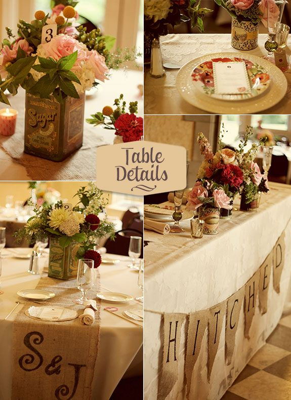 17 best ideas about rustic head tables on pinterest - Decoration de table vintage ...