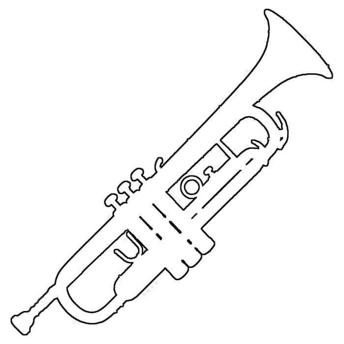 Gallery For gt Simple Trumpet Outline