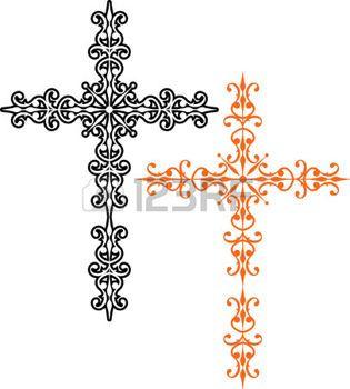 kreuz tattoo: Kreuz Christian Design Vector Kunst