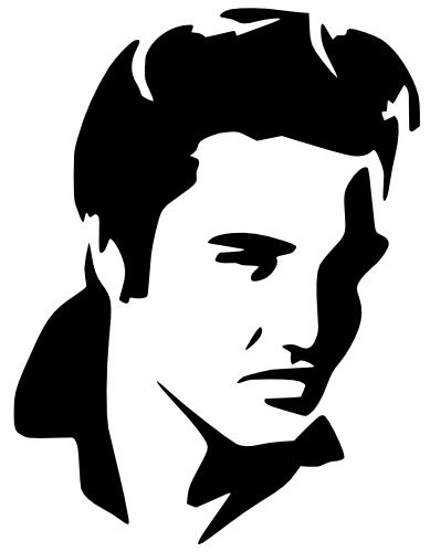 Elvis Jordan Mylar Stencil Craft