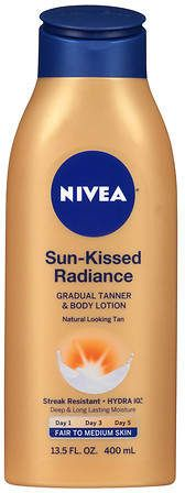 Nivea Sun Kissed Radiance Gradual Tanner & Body Lotion Fair to Medium ~CLICK TO BUY~
