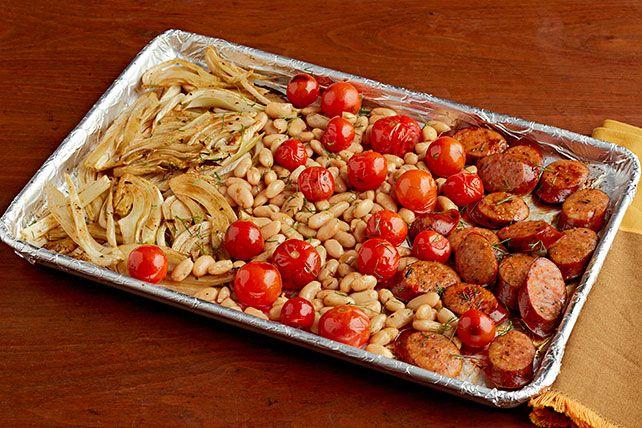 Italian Sausage Sheet-Pan Supper