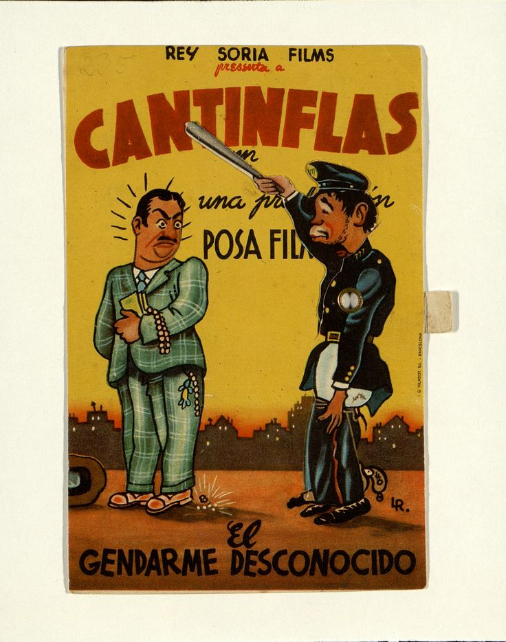 7.    Cantinflas en «El gendarme desconocido». Dirigida por Miguel M. Delgado. 1946. #ProgramasdeMano #BbtkULL #Troquelados #DiadelLibro2014