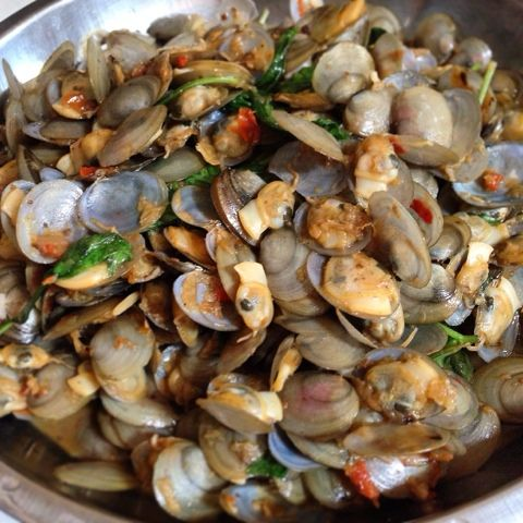 The Flavoursome Journey : Stir Fry Clams with Fermented Soy Beans - lala
