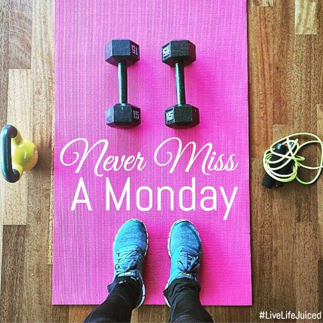 If you missed your opportunity this morning, there's still time in the day to achieve your goals and start the week off right!  Never Miss a Monday! Fitness Inspiration.