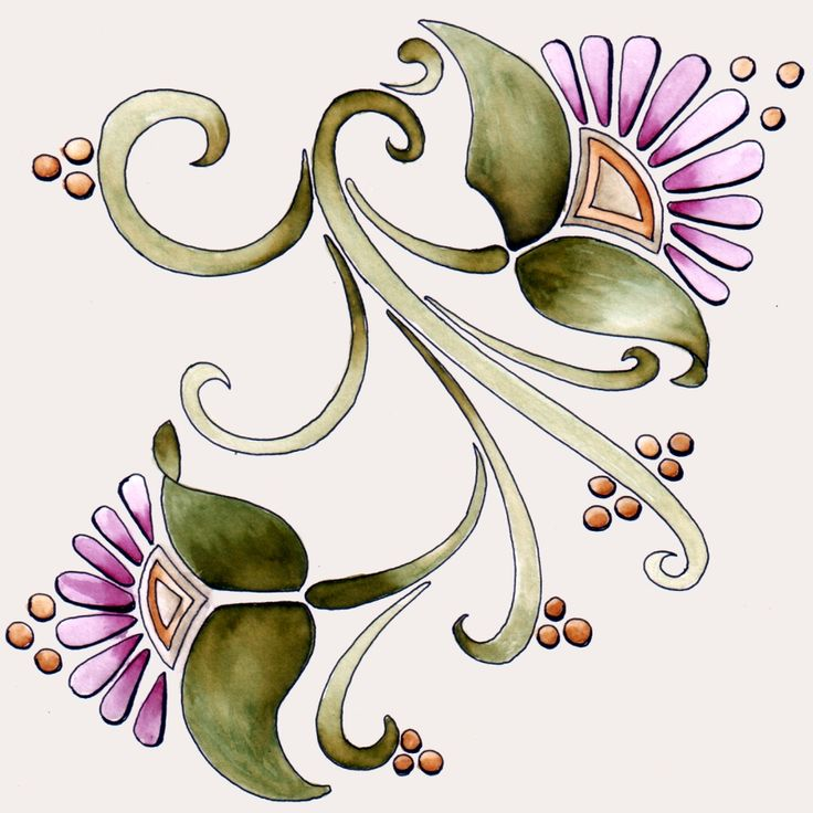 Art nouveau flowers 1 23dec11 by on for Art nouveau shapes