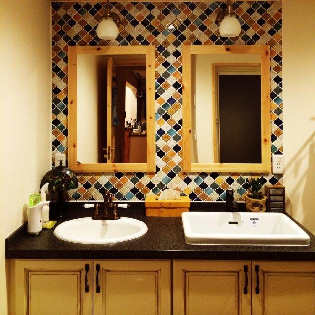 sekiddyさんの、たくさんのいいねをありがとうございます♡,アンティーク,Bathroom,のお部屋写真