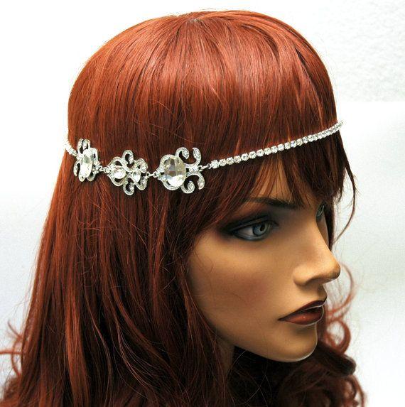 Art Deco Wedding Bridal Headpiece Head by AyansiWeddingDesigns