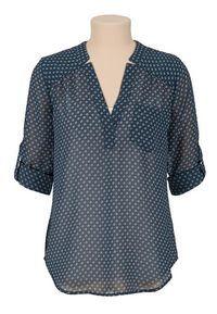 Flower print chiffon blouse