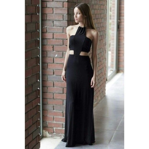 """One is never over-dressed or underdressed with a little black dress"". shop our maxi black dress www.trendyfashion.gr"