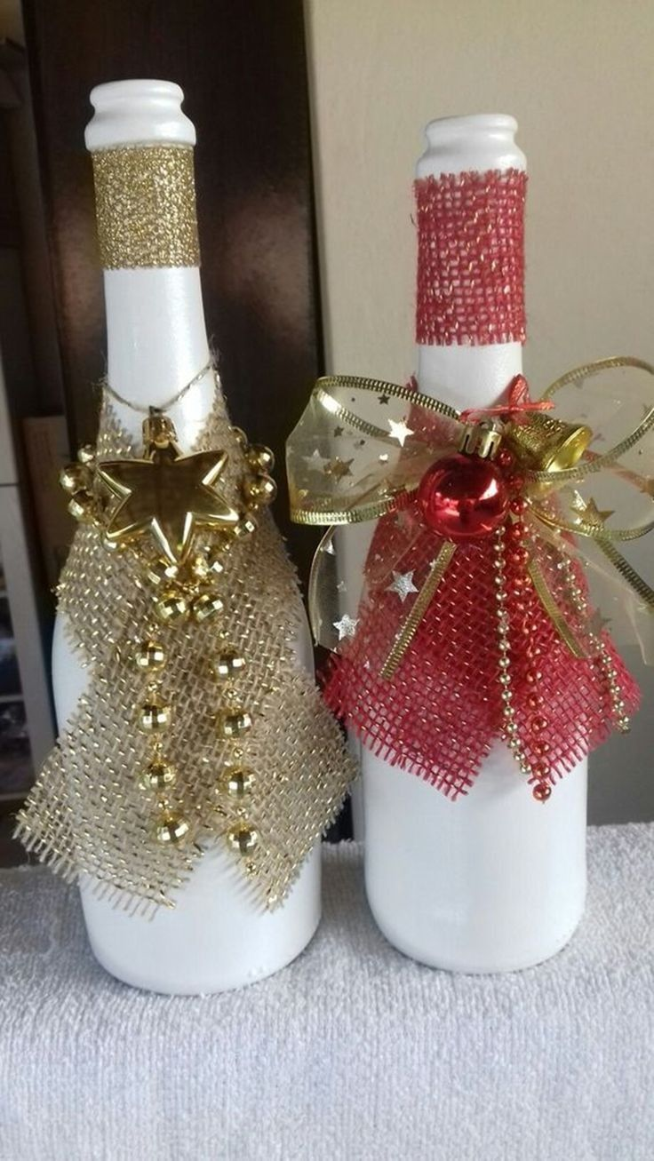 Pin By Lucy Rios On Bottle Crafts In 2020 Christmas Wine Christmas Wine Bottles Bottle Crafts