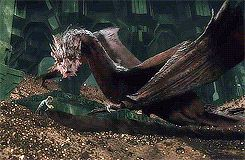 Smaug and Bilbo (gif set)