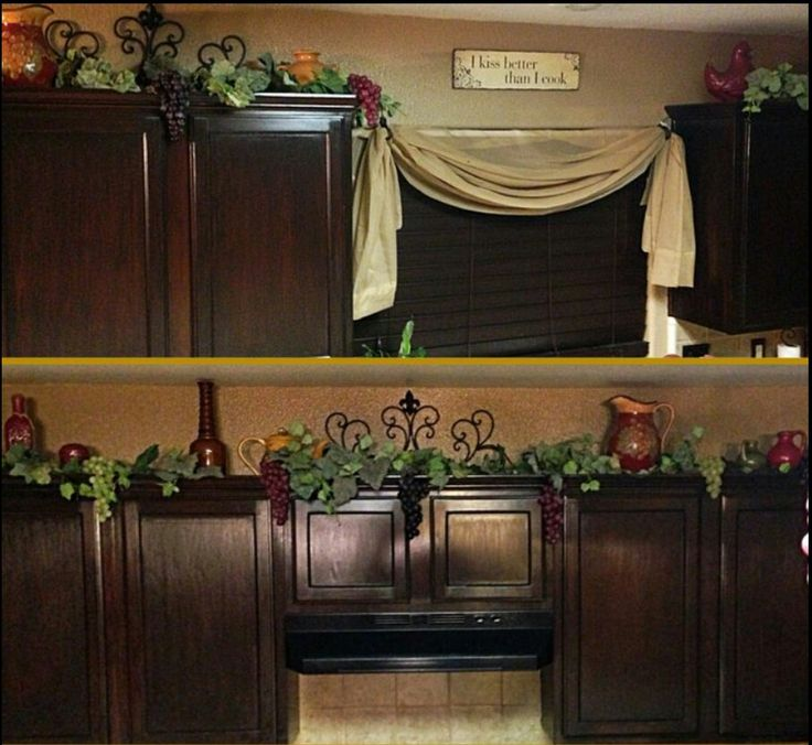wonderful Wine Decorations For Kitchen #6: vine for cabinets. wine theme ideas for my kitchen