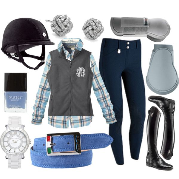 To Complete Blue Breeches Grey Vest Riding Clothes