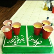 Beer Pong Cake..yeah def need this!!