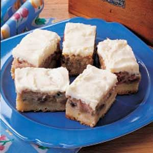 **Rhubarb Custard Bars.  The recipe we lose every spring and have to hunt down.  Now safely pinned.  I could eat 3 pans of these.